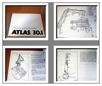 Atlas 30.1 Kran Betriebsanleitung Wartungshandbuch