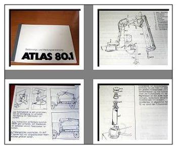 Atlas 80.1 Kran Betriebs- u. Wartungshandbuch
