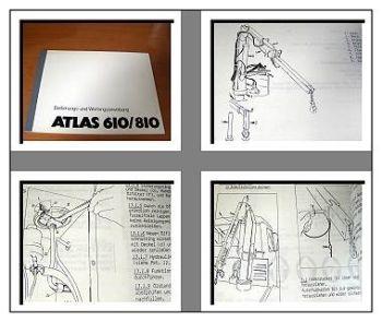 Atlas 610, 810 Kran Betriebs- u. Wartungshandbuch