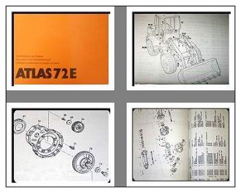 Atlas 72E Radlader Ersatzteilliste