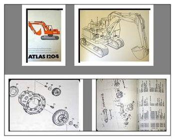 Ersatzteilkatalog Atlas 1204 Raupenbagger Parts Catalogue