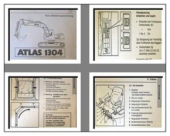 Atlas 1304 Raupenbagger Kurz - Betriebsanleitung