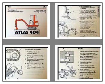 Atlas 404 Raupenbagger Betriebsanleitung & Wartung