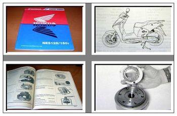 Honda NES125 NES150Y ES1 Werkstatthandbuch 2000/2001