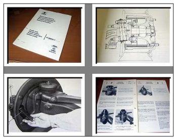 Iveco 91587511 Vorderachse 7,5t Werkstatthandbuch 1981