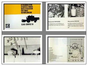 Claas Compact 30 Betriebsanleitung 1978