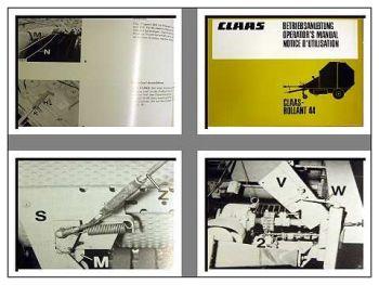 Claas Rollant 44 Ballenpresse Betriebsanleitung 1983