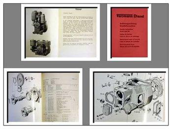 Farymann K, L, KL, LL Motor Bedienung & Ersatzteilliste