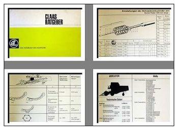Claas Ratgeber Handbuch für den Kundendienst 1972