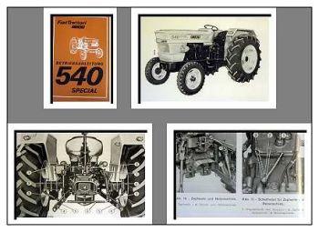 Fiat 540 special + DT Traktor Betriebsanleitung 1978