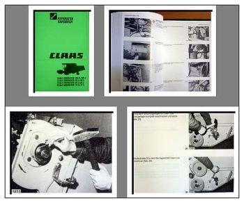 Claas Dominator 78 88 98 108 SL / S Werkstatthandbuch