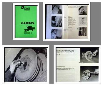 Reparaturanleitung Claas Dominator 38 48 58 68 Werkstatthandbuch