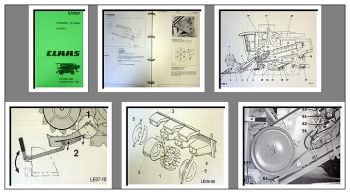 Claas Lexion 405 bis 480 Schulungshandbuch Werkstatthandbuch