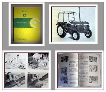 Bedienungsanleitung John Deere 840 940 Traktor Betriebsanleitung