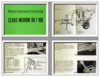 Claas Medium 80, 100 Presse Betriebsanleitung