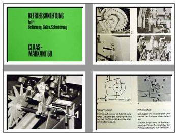 Claas Markant 50 Presse Betriebsanleitung Teil 1