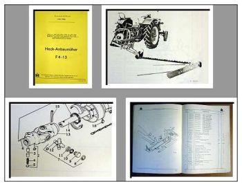 IHC / Mc Cormick F4-13 Anbaumäher Ersatzteilliste