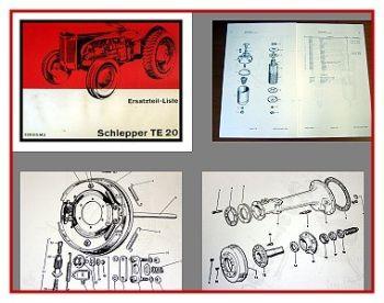 Massey Ferguson TE 20 Ersatzteilkatalog 1966