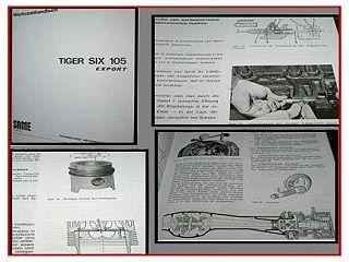 Same Tiger Six 105 Export Werkstatthandbuch 1979
