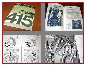 Fiat 415 Betriebsanleitung Bedienungsanleitung 1965
