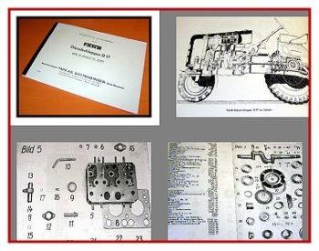 Fahr D17 Dieselschlepper Bedienungsanleitung + Ersatzteilkatalog 1951