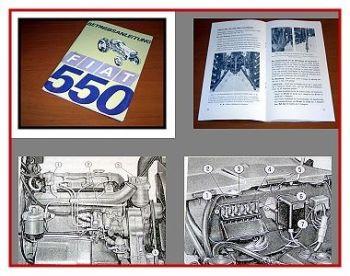 Fiat 550 Schlepper Betriebsanleitung Bedienung Wartung 1968