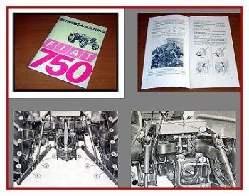 Fiat 750 Schlepper Betriebsanleitung 1969