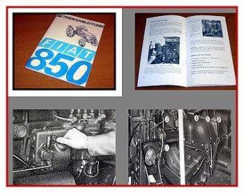 Fiat 850 Schlepper Betriebsanleitung 1969