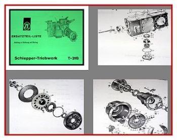 ZF 318 Schlepper Triebwerk Bedienung + Ersatzteilliste