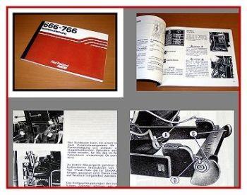 Fiat 666 - 766 Traktor Betriebsanleitung 1982