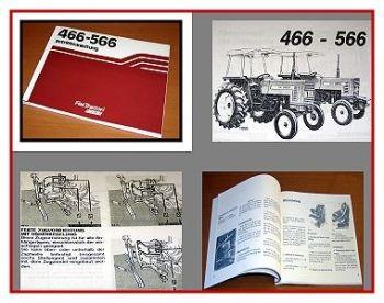 Bedienung Fiat 466 - 566 Traktor Betriebsanleitung 1982