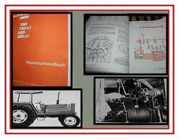 Fiat 780 & Fiat 880 + DT Traktor Werkstatthandbuch 1981