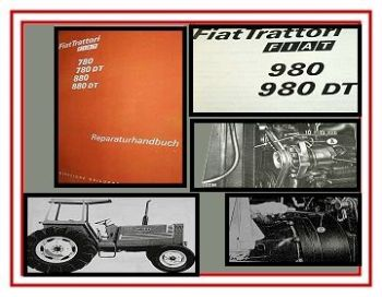 Fiat 980 + DT Traktor Reparaturhandbuch 1981