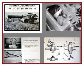 Reparatur New Holland 265 - 386 Hochdruckpresse Werkstatthandbuch