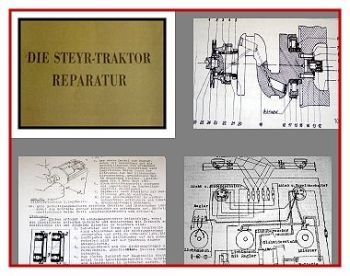 Steyr Traktor Reparaturanleitung 1954