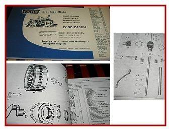 Fahr D130 & D130H Traktor Ersatzteilliste 1959