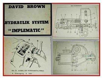 David Brown 850 880 950 990 Impl. Hydraulik Werkstatthandbuch
