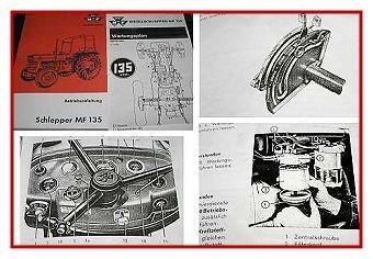 Massey Ferguson MF 135 Betriebsanleitung 1970