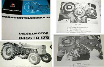 IHC 423 523 Werkstatthandbuch Dieselmotor D-179 D-155 1966