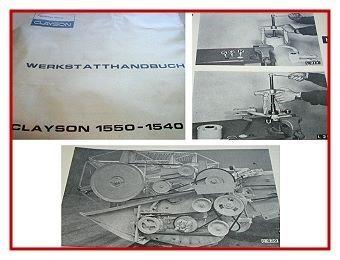 Sperry Rand Clayson 1550 1540 Mähdrescher Werkstatthandbuch 1972