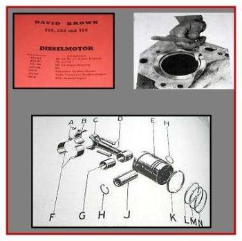 David Brown 850, 880, 950 Dieselmotor Werkstatthandbuch