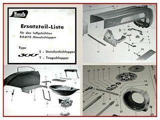 Bautz 300 S / T Schlepper Ersatzteilliste 1960