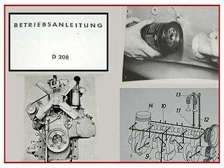 MWM D208 Dieselmotor Betriebsanleitung