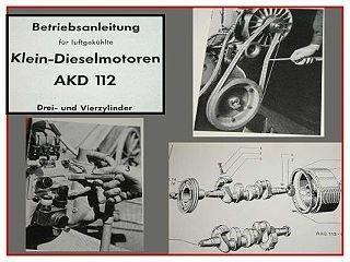 MWM AKD 112 D + V Dieselmotor Betriebsanleitung 1957