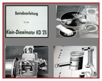 MWM KD 211 Z Dieselmotor Betriebsanleitung & ETL 1957