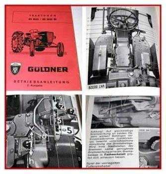 Güldner G50, G50S Betriebsanleitung 1965