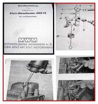 MWM AKD 12 E+Z Betriebsanleitung Ersatzteilliste
