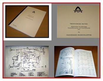 Hanomag Schlepper Werkstattdaten-Handbuch 1965