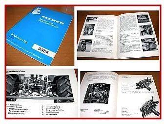 Eicher 3354 Schlepper Betriebsanleitung 1977