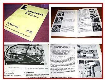 Eicher 3133 Schlepper Betriebsanleitung 1976
